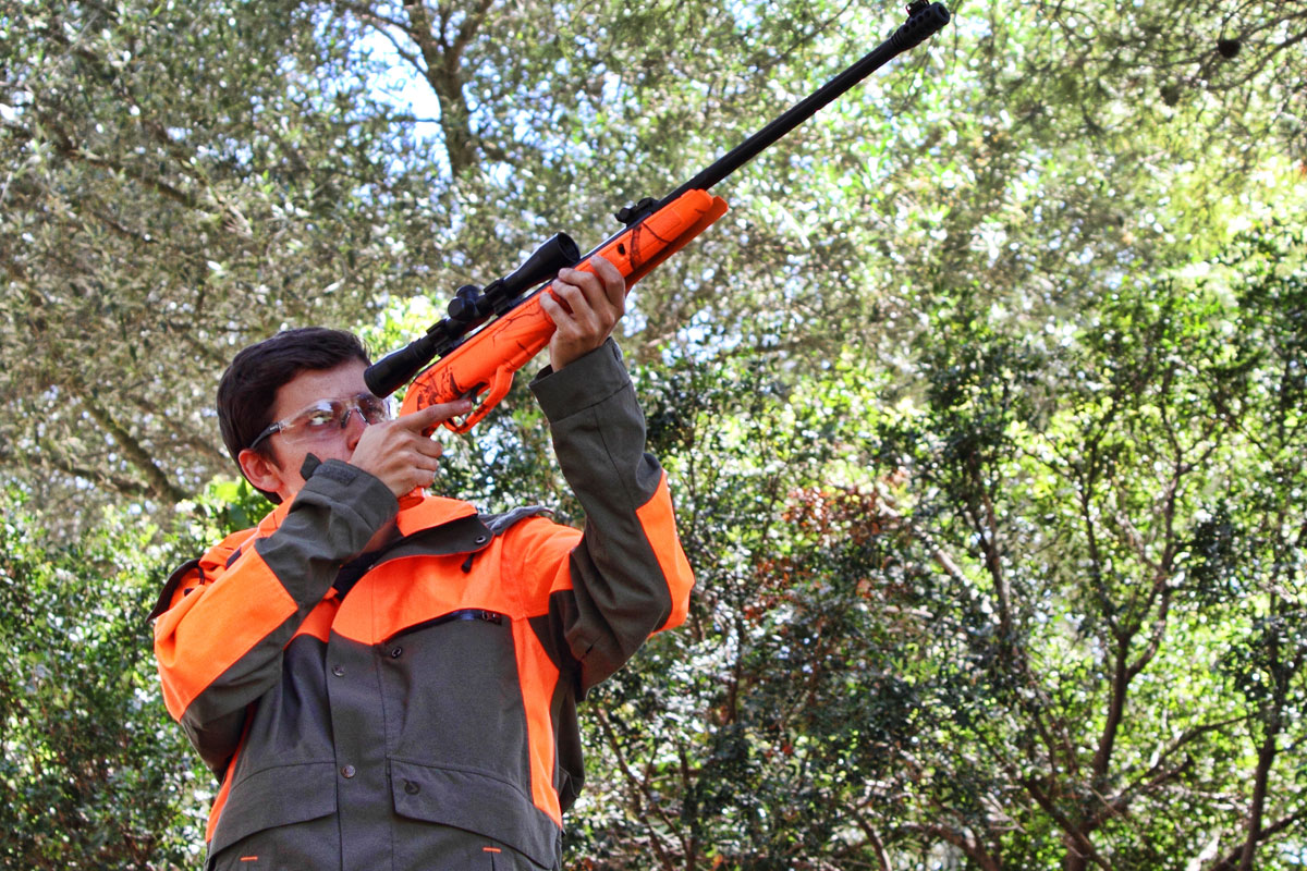 Shooting Safely with an airgun. Gamo HV Storm, the best option for a safe airgun shooting journey.